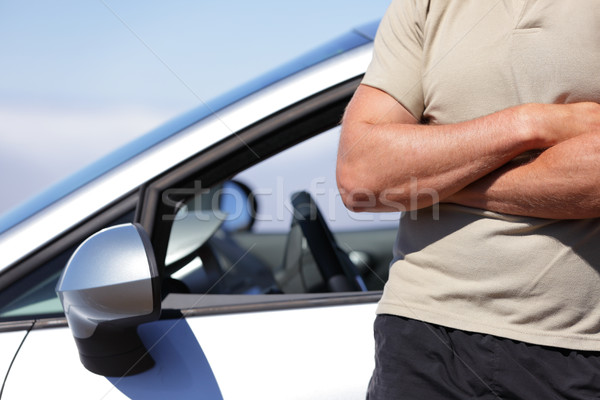 Confident man driver driving new car concept Stock photo © Maridav