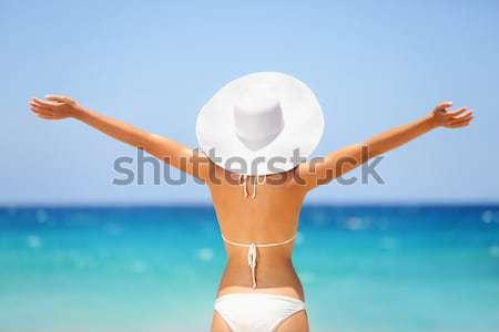 Travel vacation woman Stock photo © Maridav
