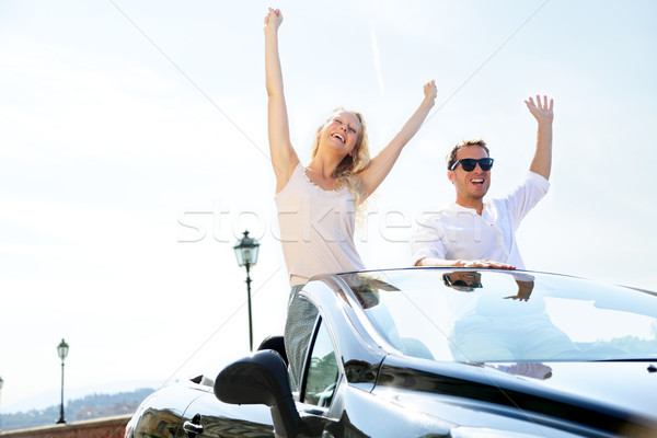 Gens heureux voiture conduite route voyage Photo stock © Maridav