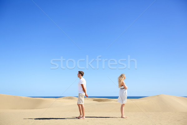 Stock photo: Relationship problem - upset couple argument