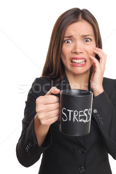Stress concept - business woman stressed Stock photo © Maridav