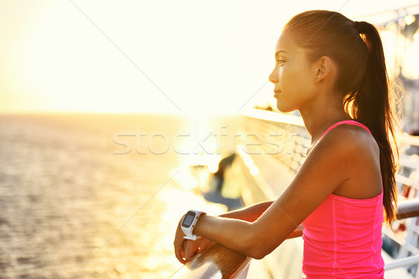 アクティブ 女性 リラックス 実行 クルーズ 休日 ストックフォト © Maridav