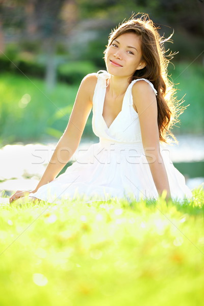 Summer / spring woman Stock photo © Maridav
