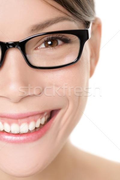 Glasses eyewear woman portrait close up Stock photo © Maridav