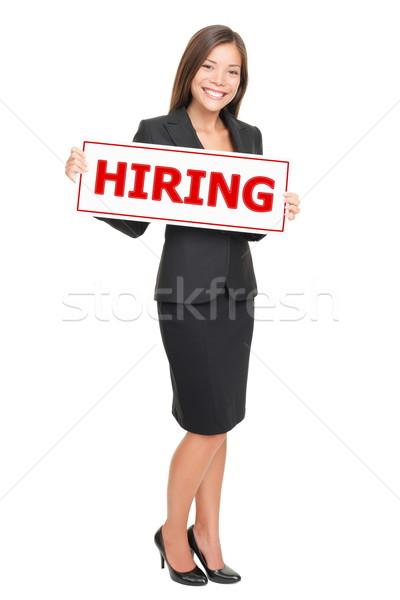 Stok fotoğraf: Işkadını · iş · kadın · imzalamak