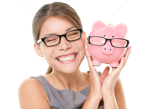 Glasses eyewear savings piggybank Stock photo © Maridav