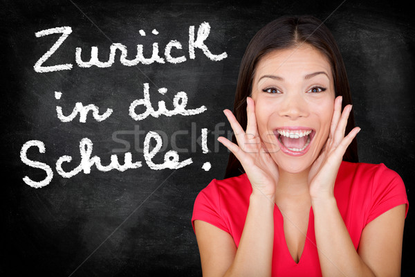 Zuruck in die Schule German student back to school Stock photo © Maridav