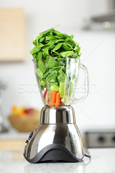 緑 野菜 スムージー ブレンダー 健康食品 ほうれん草 ストックフォト © Maridav