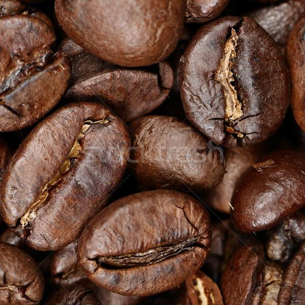 Texture background coffee beans closeup Stock photo © Maridav
