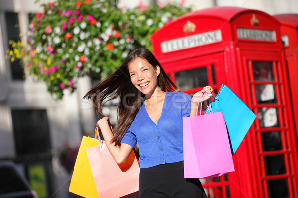 Shopping woman in London Stock photo © Maridav