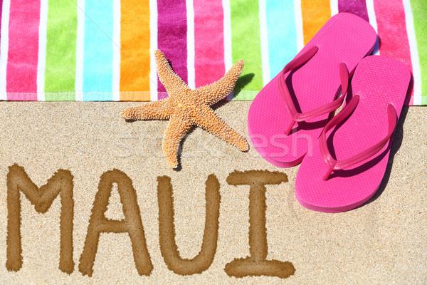 Maui, Hawaii beach travel Stock photo © Maridav