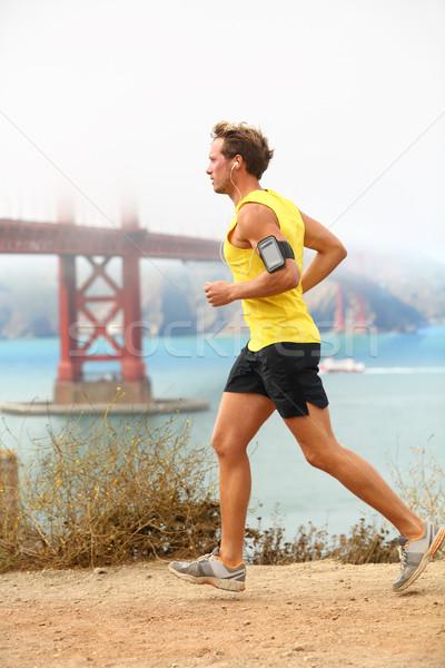 Foto stock: Homem · corrida · masculino · corrida · San · Francisco