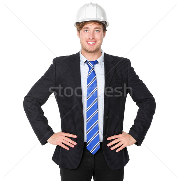 Engineer or architect business man in suit Stock photo © Maridav