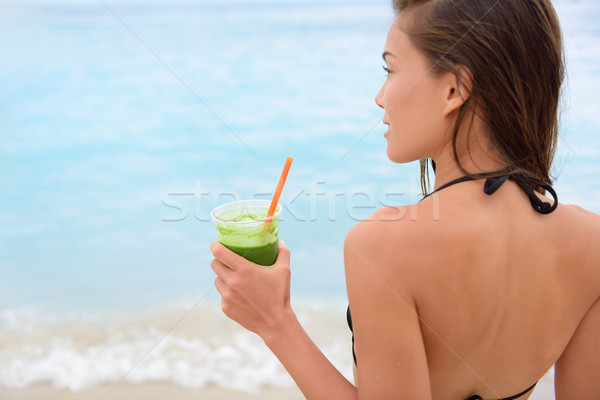 Foto stock: Verde · vegetales · zalamero · mujer · potable