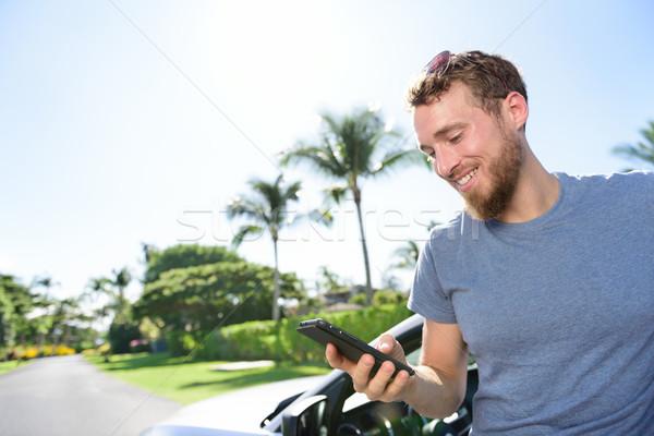 автомобилей смартфон приложение человека sms Сток-фото © Maridav