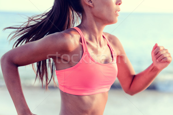 Woman runner sports bra - cardio running workout Stock photo © Maridav