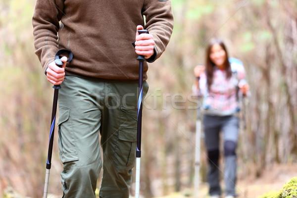 Wandelen wandelaar detail tonen wandelaars Stockfoto © Maridav