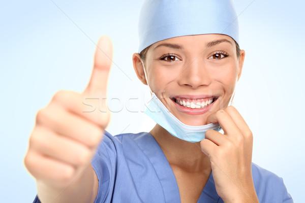 Successful young doctor / nurse Stock photo © Maridav