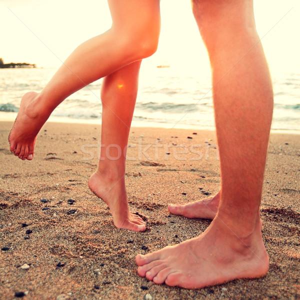 целоваться любителей пару пляж любви Сток-фото © Maridav