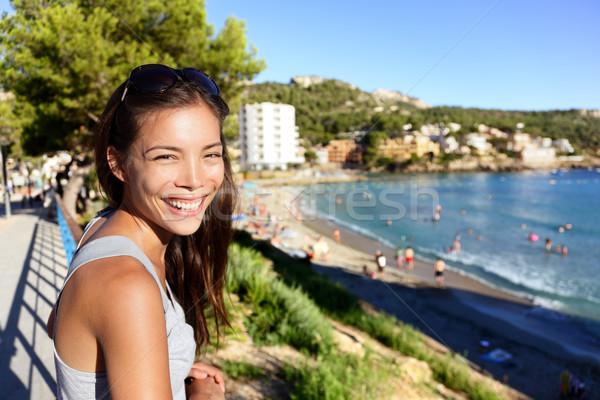 観光 女性 ビーチ 夏休み マヨルカ島 アジア ストックフォト © Maridav