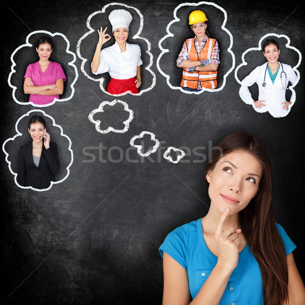 Stock photo: Career education - student thinking of future