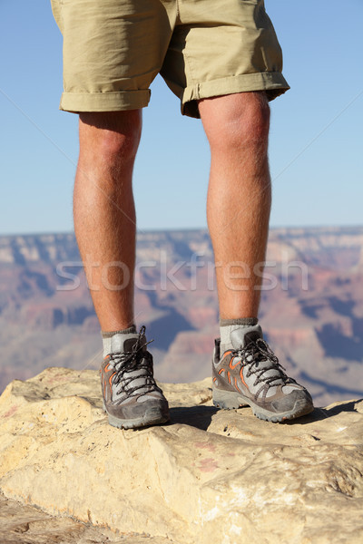 Hiking shoes on hiker in Grand Canyon Stock photo © Maridav