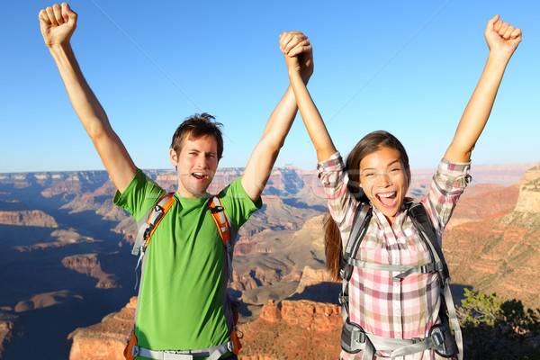 Mutlu insanlar Grand Canyon genç Stok fotoğraf © Maridav