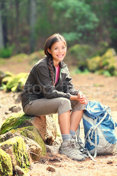 active healthy woman hiking Stock photo © Maridav