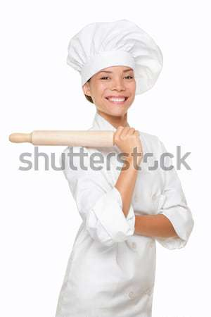 Chef, cook or baker woman Stock photo © Maridav