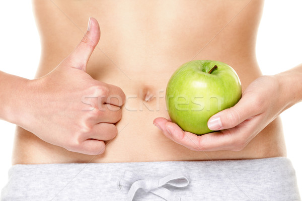 Eating healthy apple fruits is good for stomach Stock photo © Maridav
