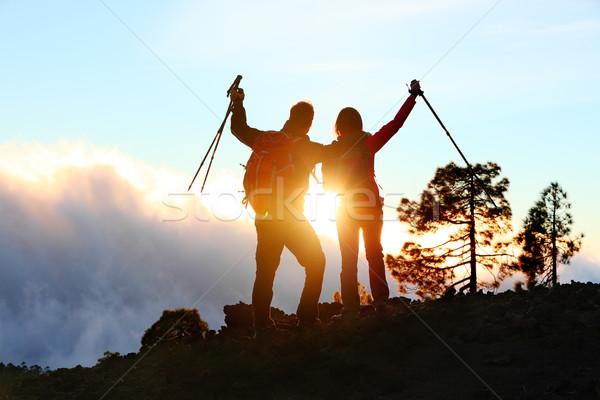 Sukces osiągnięcie osiągnięcie ludzi turystyka Zdjęcia stock © Maridav