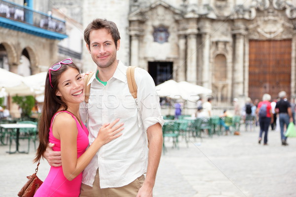 Cuba touristes La Havane heureux couple portrait Photo stock © Maridav