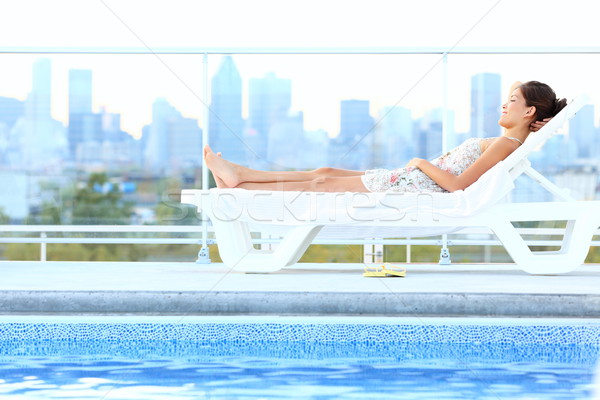 Urban luxury city lifestyle woman Stock photo © Maridav