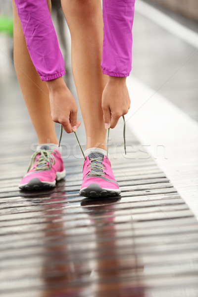 Running shoes - barefoot running shoes Stock photo © Maridav