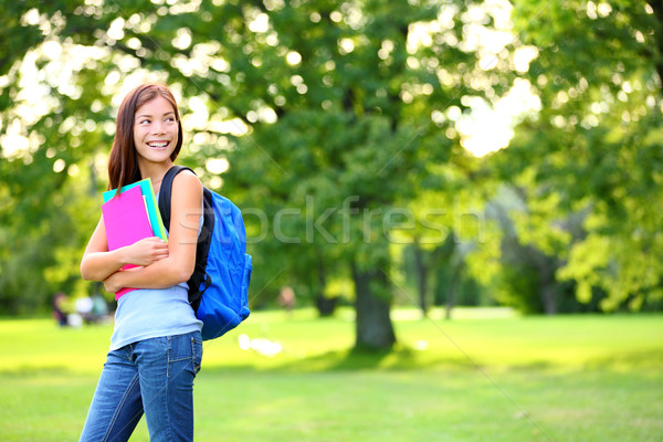 Back to school student girl looking to side Stock photo © Maridav