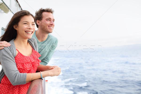 Cruiseschip paar romantische boot naar Stockfoto © Maridav