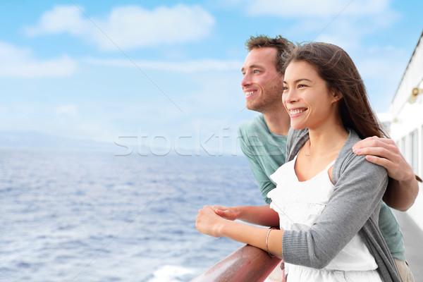 Felice Coppia nave da crociera vacanze romantica barca Foto d'archivio © Maridav