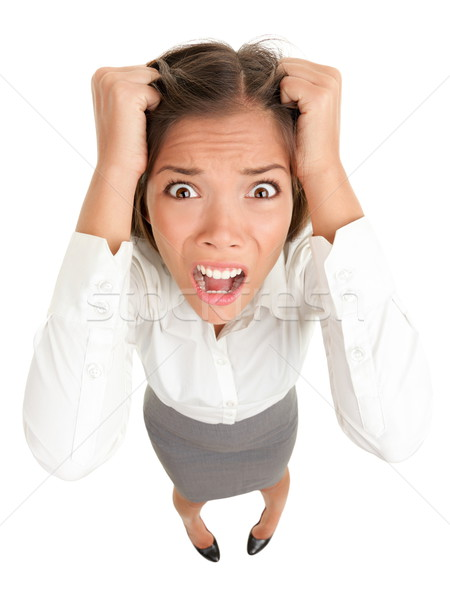 Stress business woman Stock photo © Maridav