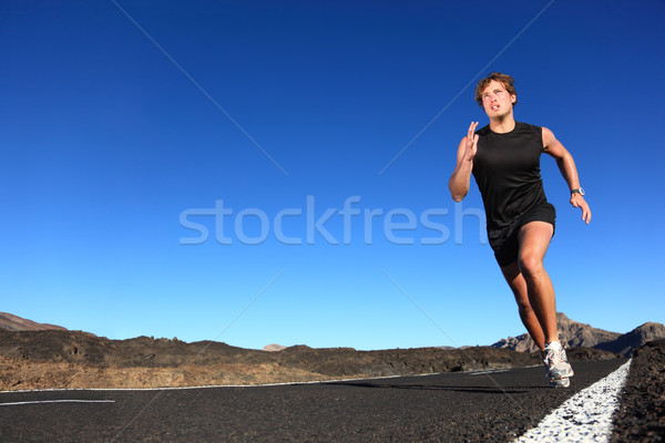 Running - male runner Stock photo © Maridav