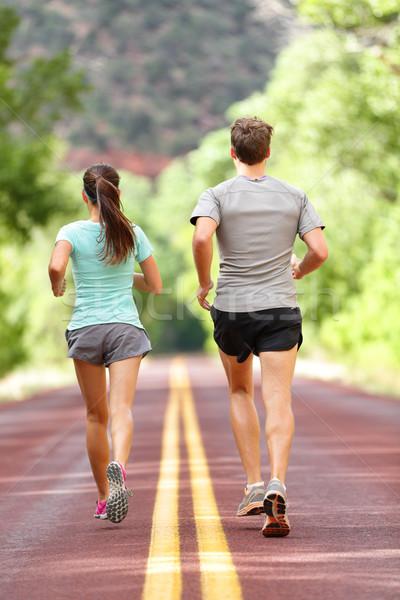 Corrida corrida saúde fitness pessoas Foto stock © Maridav