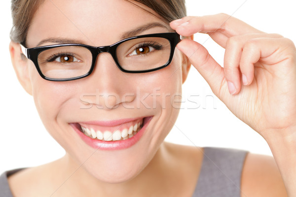 Eyewear glasses woman happy Stock photo © Maridav