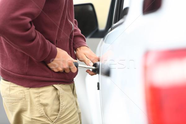 Araba kırmak hırsızlık görmek aşağı uzunluk Stok fotoğraf © Maridav