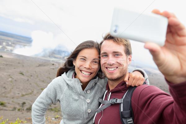 Hawaii - couple sefile by Hawaiian volcano Stock photo © Maridav