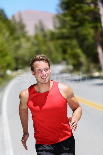 Corrida corredor treinamento cardio floresta estrada Foto stock © Maridav