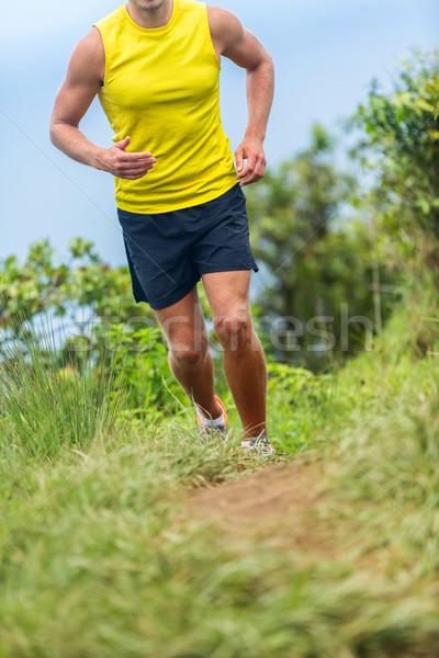Homem atleta corrida fora fitness trilha Foto stock © Maridav