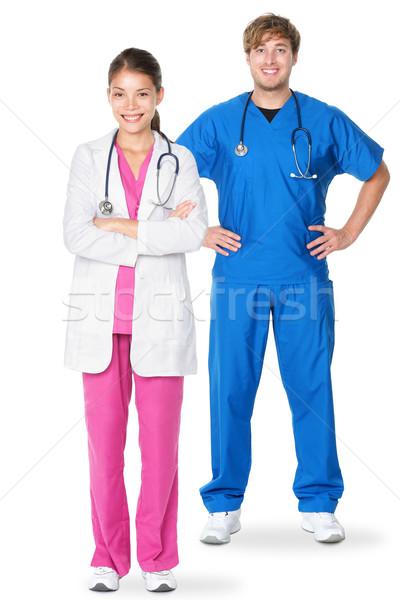 Сток-фото: медицинской · врачи · Постоянный · изолированный · молодые · кавказский