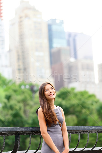 Femme d'affaires New York Central Park New York City permanent Photo stock © Maridav