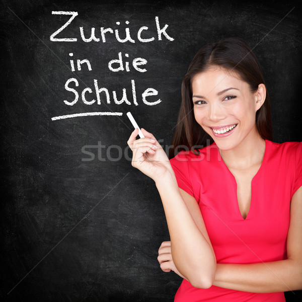 Zuruck in die Schule - German teacher back to school Stock photo © Maridav