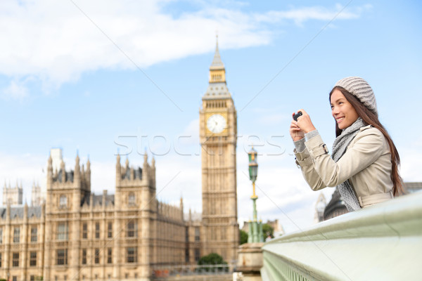 Utazás turista London városnézés elvesz fotók Stock fotó © Maridav