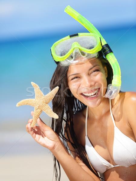 Summer beach vacation holidays woman Stock photo © Maridav
